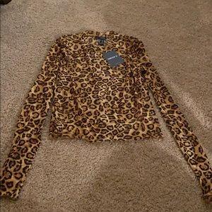 Mesh Leopard Blouse